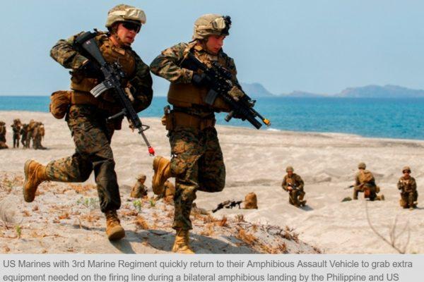 Le porte-parole du gouvernement philippin, Ernesto Abella, a tenu à tempérer les propos du président Rodrigo Duterte sur les soldats américains de Mindanao. Copie d'écran du Philippine Star, le 13 septembre 2016.