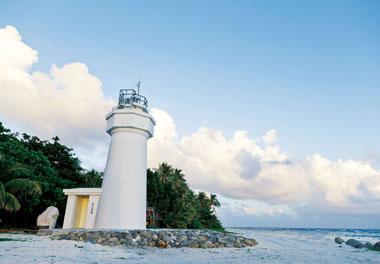 Le phare de l'île deTaïping dans l'archipel des Spratleys en mer de Chine du Sud.