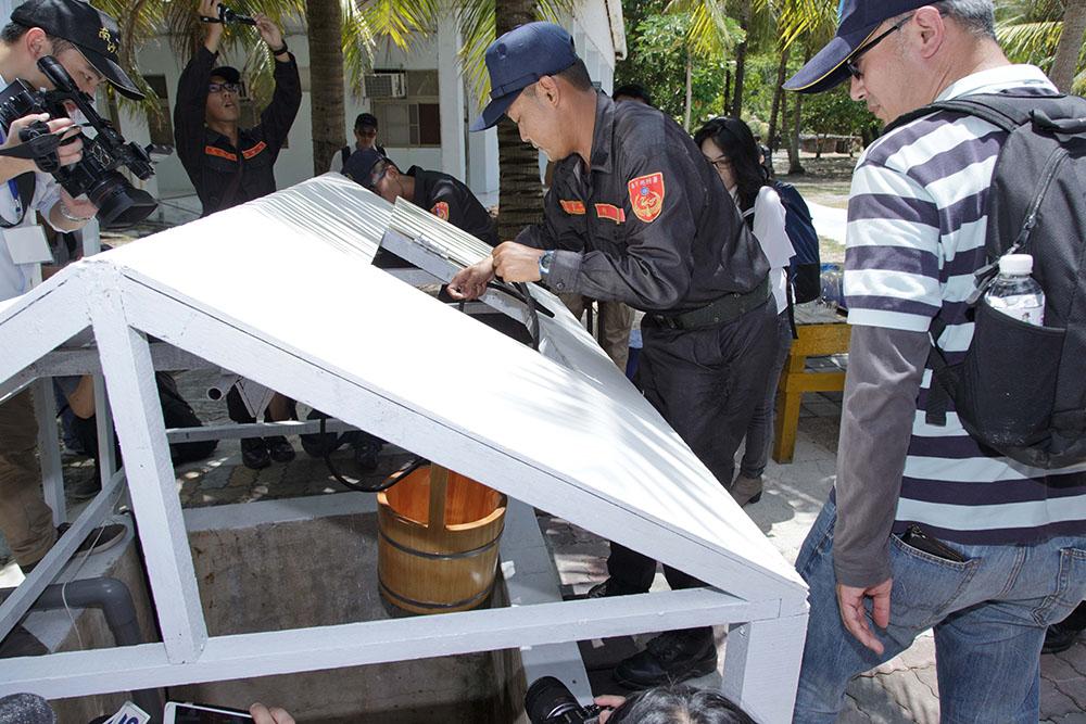 L'un des quatre puits d'eau de Taïping, dans l'archipel des Spratleys en mer de Chine du Sud.