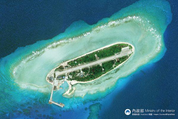 L'île de Taïping dans l'archipel des Spratleys en mer de Chine du Sud. (Crédit : Bureau de Représentation de Taipei en France).