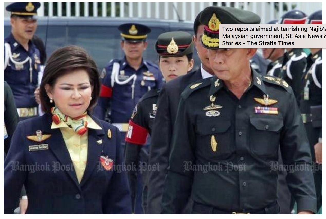 Le frère cadet du général Prayuth Chan-ocha est accusé d'avoir favorisé son fils alors qu'il est déjà sous le coup d'une enquête pour la construction d'un barrage. Copie d'écran du Bangkok Post, le 21 septembre 2016.