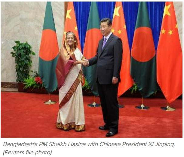 Le Bangladesh vient de se voir accorder le plus gros prêt de son histoire : 24 milliards de dollars par la Chine. Copie d'écran du Times of India, le 14 octobre 2016.