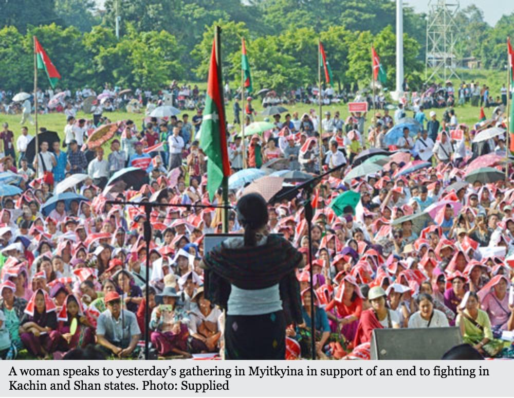 Le 1er octobre, une fillette a péri dans une explosion provoquant une forte mobilisation des habitants de l'Etat. Copie d'écran du Myanmar Times, le 4 octobre 2016.