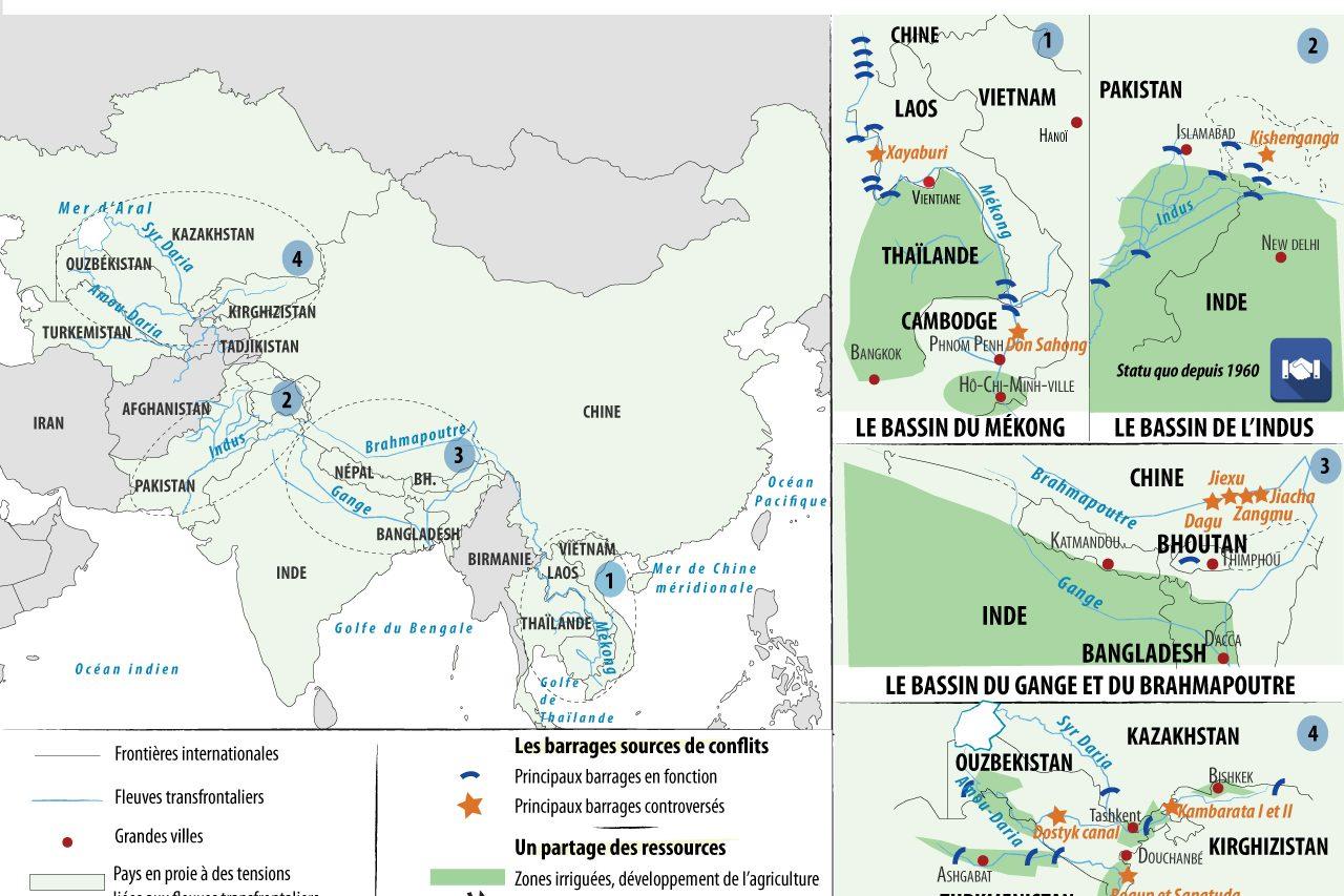 La difficile gestion des ressources des fleuves transfrontaliers.