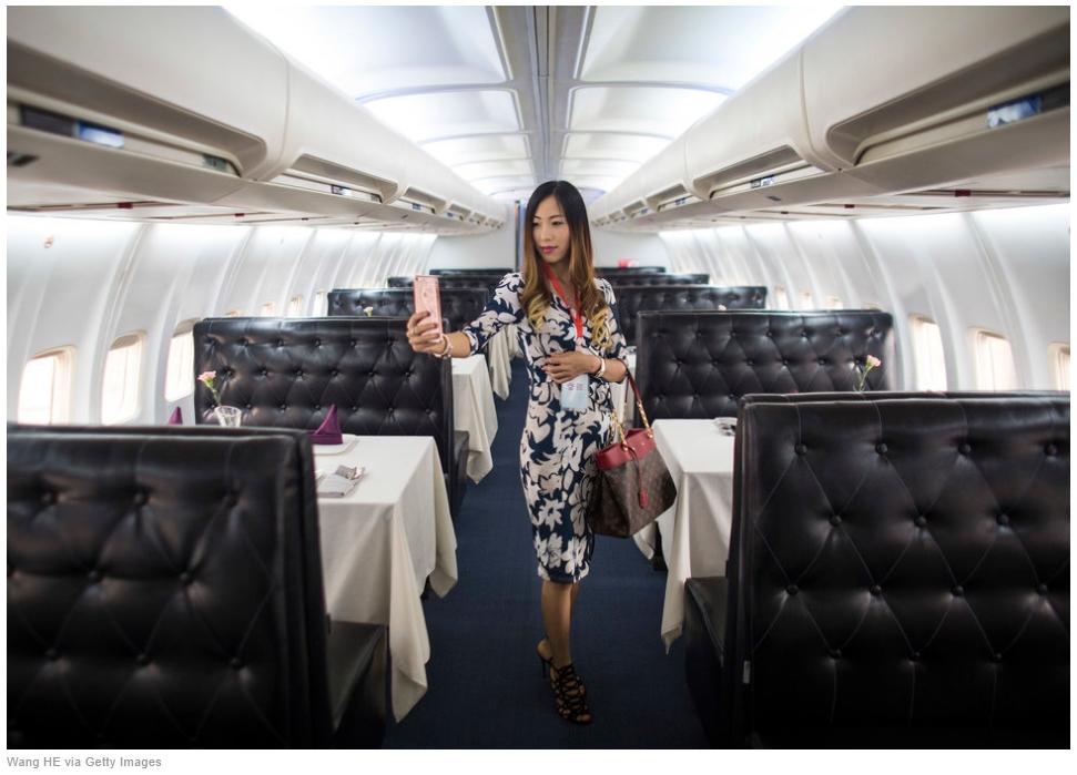 La gastronomie de haut vol servie dans ce nouveau restaurant mérite bien un selfie. Copie d'écran du Huffington Post, le 10 septembre 2016.