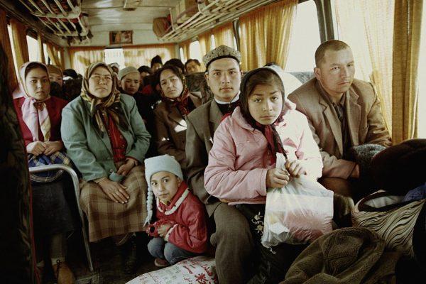 Bus de campagne, Hotan 2004.