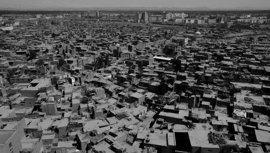 Vieille ville de Kashgar, 2009. (Crédit : Ma Kang).