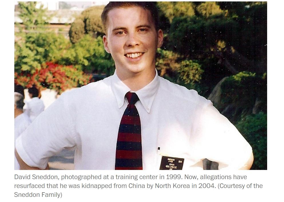 David Sneddon a-t-il été enlevé par Pyongyang pour donner des cours d'anglais à Kim Jong-un ? Copie d'écran du Washington Post, le 15 septembre 2016.