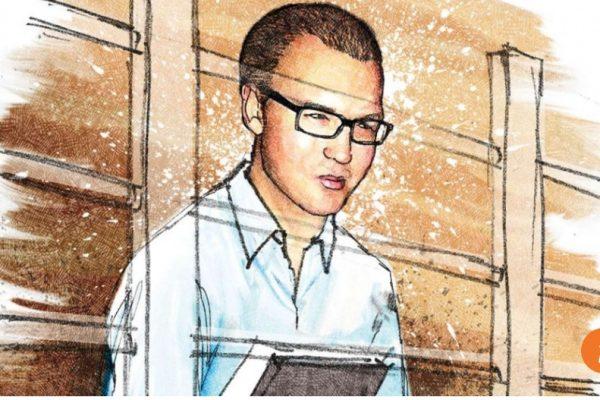 Le banquier britannique Rurik Jutting aura du mal à plaider son innocence suite à la diffusion de vidéos compromettantes. Copie d'écran du South China Morning Post, le 25 octobre 2016.