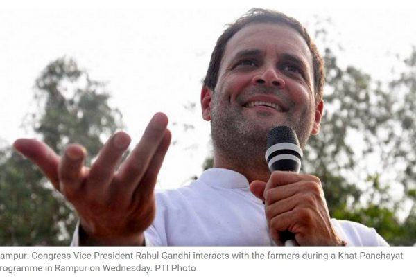 Le vice-président du Congrès a rapidement nuancé ses propos sur Twitter et affirmé qu'il soutenait les frappes chirurgicales. Copie d'écran de The Indian Express, le 7 octobre 2016.