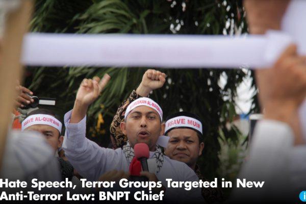 Cette nouvelle loi prévoit d'agir en amont des attaques en punissant les discours de haine et les personnes soupçonnées de rejoindre les rangs des groupes terroristes. Copie d'écran du Jakarta Globe, le 27 octobre 2016.