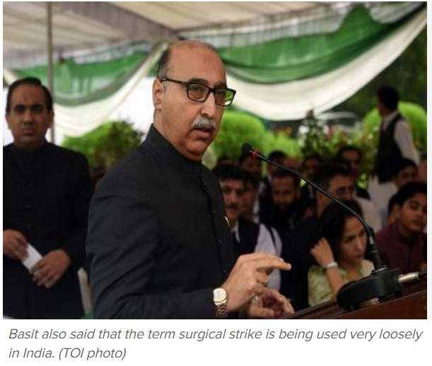 """Le conflit d'interprétation entre New Delhi et Islamabad sur les prétendues """"frappes chirurgicales"""" indiennes au Cachemire continue de faire rage. Copie d'écran du Times of India, le 13 octobre 2016."""
