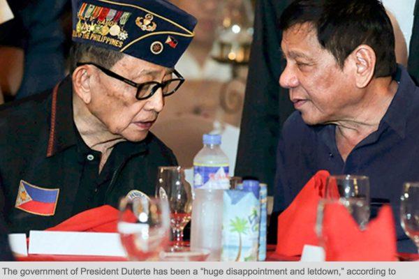 L'ancien président reproche avant tout à Duterte son agressivité envers les Etats-Unis. Copie d'écran du Philippines Star, le 11 octobre 2016.
