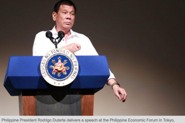 """Rodrigo Duterte a finalement accepté de reconnaître l'intérêt d'un accord militaire avec les Etats-Unis, reculant encore après sa déclaration où il affirmait se """"séparer"""" de Washington. Copie d'écran du Philippine Star, le 27 octobre 2016."""