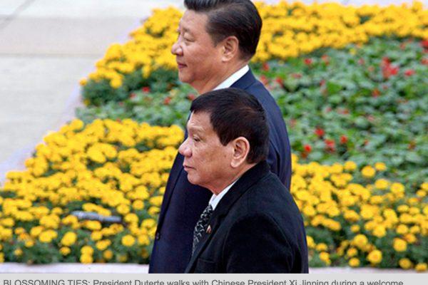 Rodrigo Duterte a officiellement procédé à un revirement diplomatique au profit de la Chine et de la Russie. Copie d'écran du Philippine Star, le 21 octobre 2016.