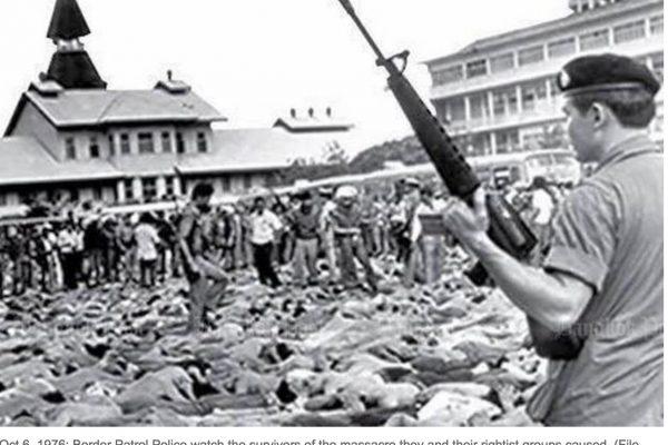 Les deux événements seraient le résultat du maintien à tout prix d'un statu quo par l'establishment. Copie d'écran du Bangkok Post, le 7 octobre 2016.