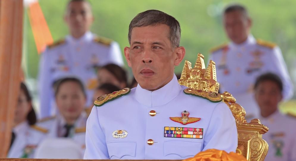 Le prince héritier Maha Vajiralongkorn lors de la cérémonie du Labour royal à Sanam Luang, à Bangkok le 13 mai 2015.