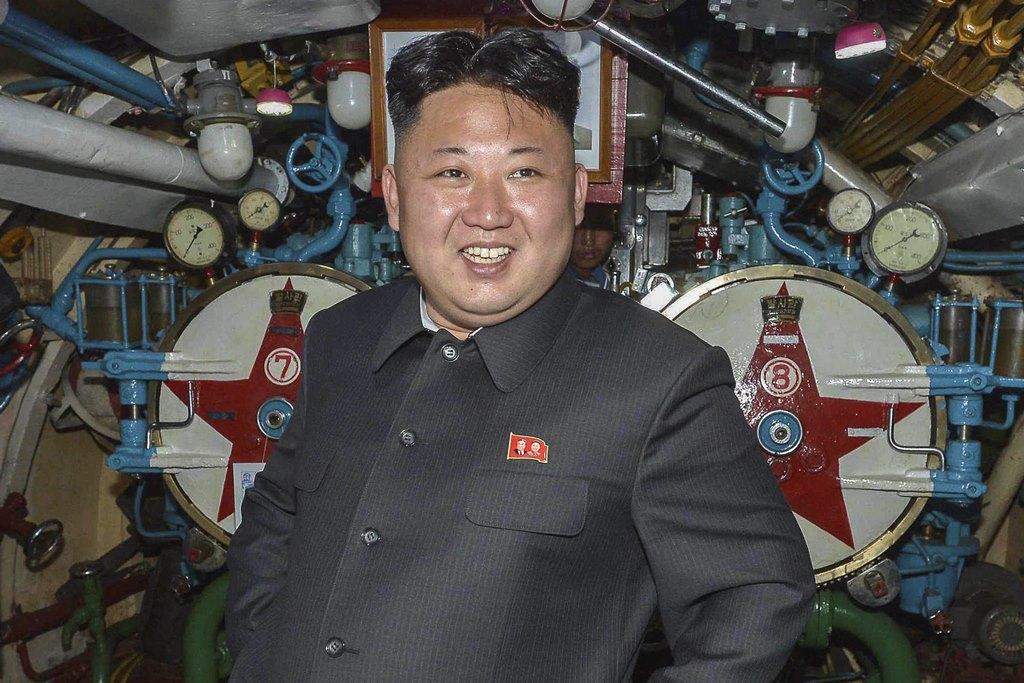 Le leader nord-coréen Kim Jong-un dans un cliché fournie en 2015 par la Korean Central News Agency (KCNA) on 2015.