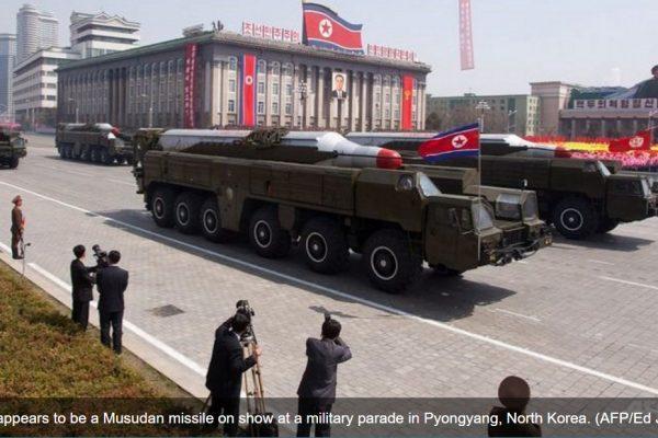L'élection américaine du 8 novembre pourrait bien inciter Pyongyang à effectuer un nouveau tir de missile. Copie d'écran de Channel News Asia, le 2 novembre 2016.