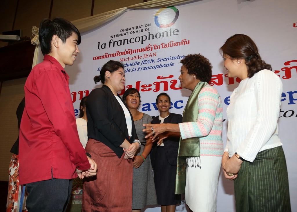 La secrétaire générale de l'Organisation internationale de la Francophonie en visite au Cambodge.