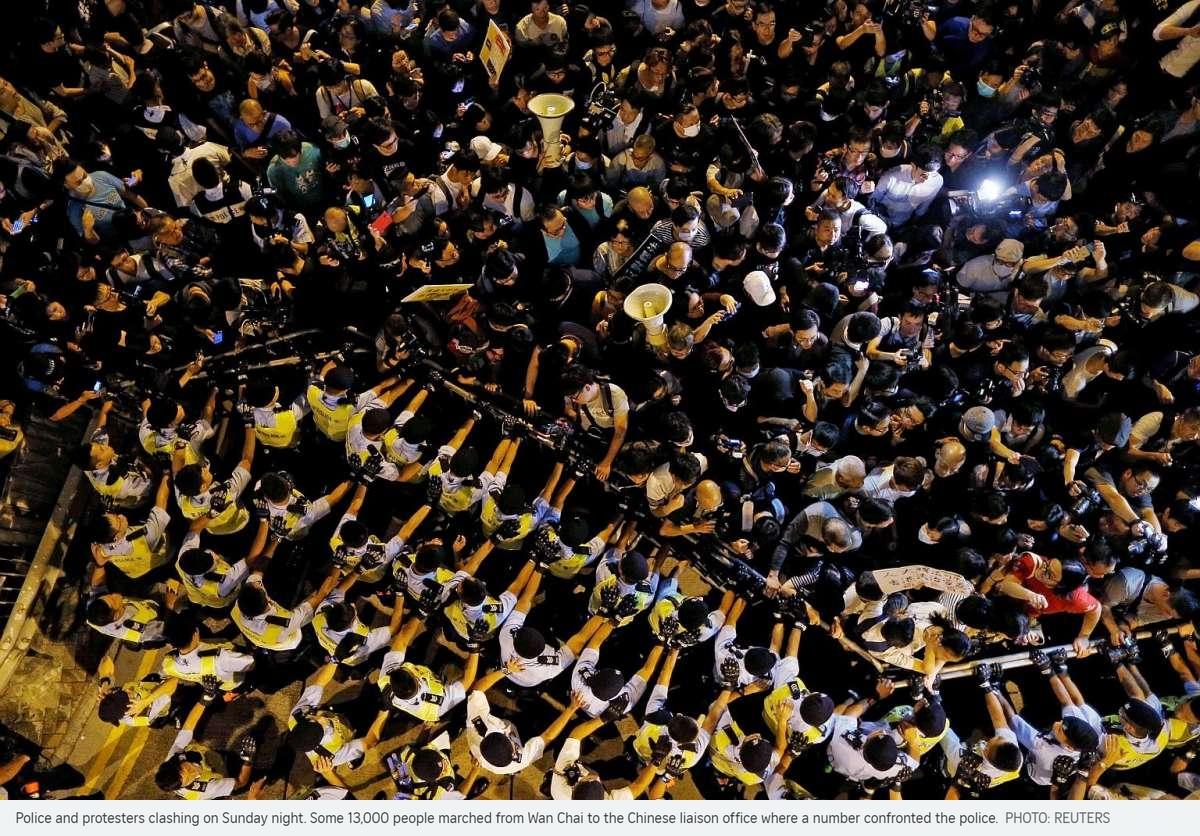 Faut-il s'attendre à une nouvelle vague de manifestations à Hong Kong ? Copie d'écran du Straits Times, le 8 novembre 2016.