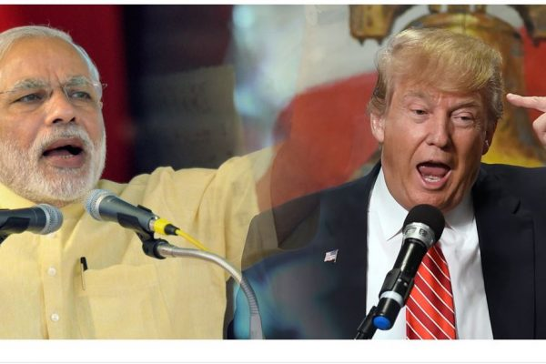 """Le Premier ministre indien Modi et le président américain nouvellement élu jouent sur les mêmes peurs et sont donc des """"jumeaux politiques"""". Copie d'écran de """"Scroll.In"""", le 9 novembre 2016."""