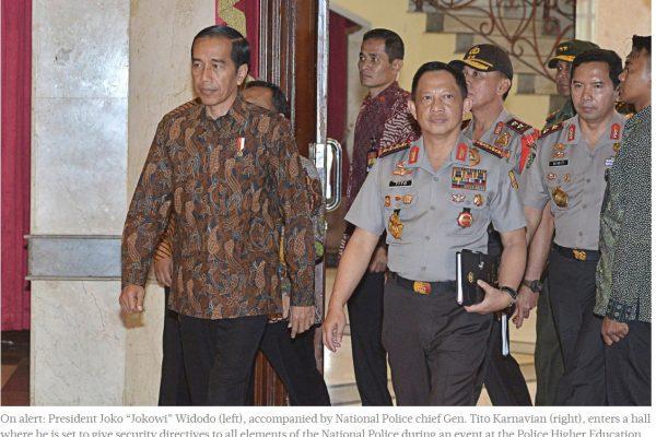 Jokowi ne veut pas laisser impunis les responsables des émeutes du 4 novembre. Copie d'écran du Jakarta Post, le 8 novembre 2016.
