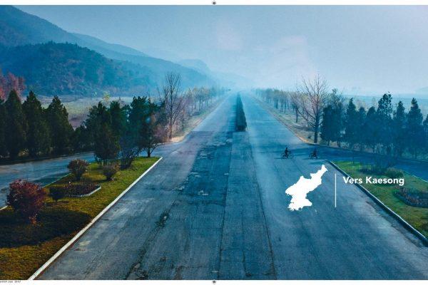 L'autoroute de Kaesong en Corée du Nord.