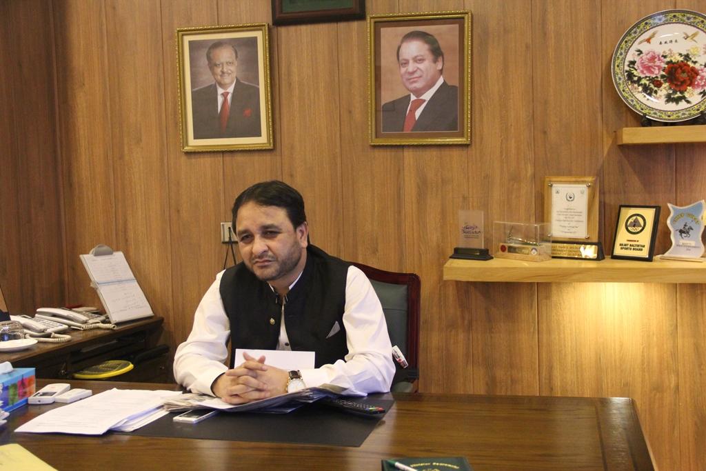 Hafiz Hafeezur Rehman, ministre-en-chef de la province du Gilgit-Baltistan, au sud du Pakistan.