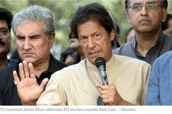Au dernier moment, Imran Khan a annulé son grand blocus de la capitale pakistanaise. Copie d'écran de Dawn, le 2 novembre 2016.
