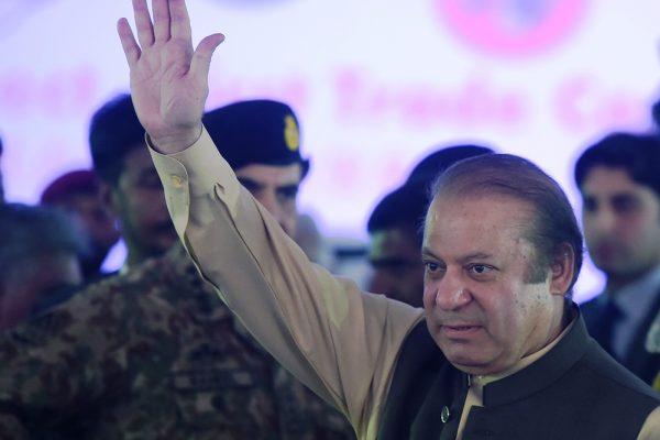 Le Premier ministre pakistanais Nawaz Sharif à son arrivée pour la cérémonie d'inauguration du port de Gwadar le 13 novembre 2016.