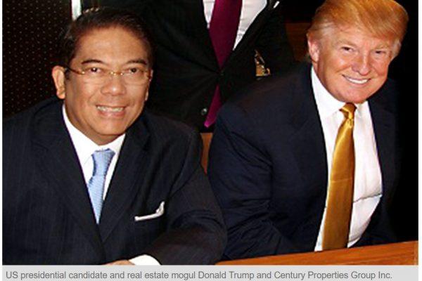 """Rodrigo Duterte, parfois appelé le """"Trump philippin"""", a-t-il choisi son camp avec son nouvel émissaire à Washington ? Copie d'écran du Philippine Star, le 8 novembre 2016."""
