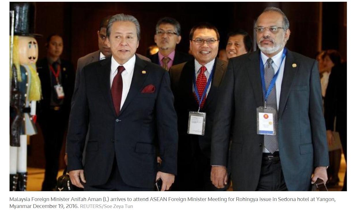 Loin d'être anodine, la réunion des dix ministres des Affaires étrangères de l'ASEAN sur la question rohingya marque un véritable tournant. Copie d'écran de Reuters, le 19 décembre 2016.