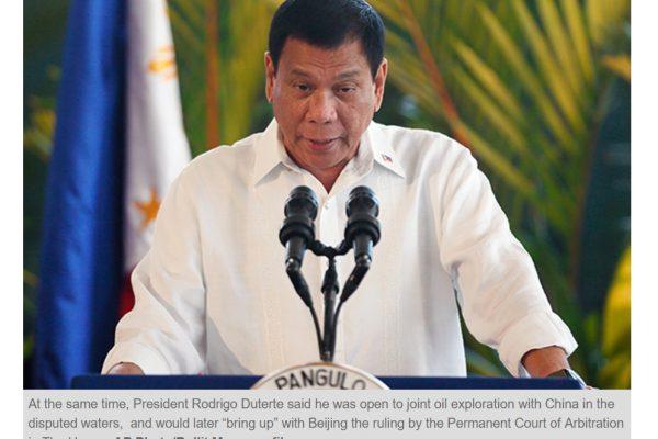 Le président philippin Rodrigo Duterte est-il en train de se saborder politiquement ? Copie d'écran du Philippine Star, le 20 décembre 2016.