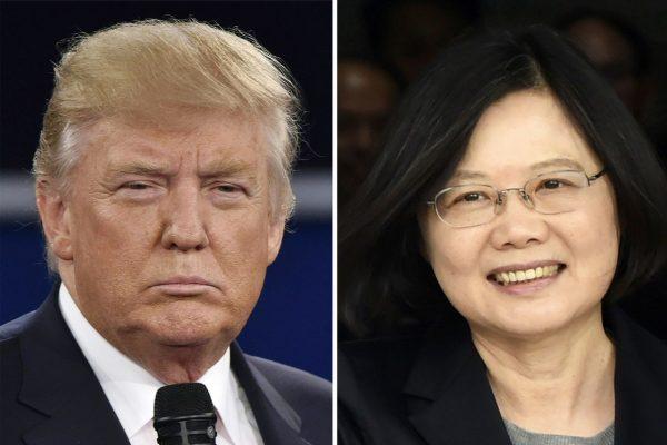 Le président-élu des Etats-Unis Donald Trump a reçu vendredi 2 décembre un appel de la présidente de Taïwan, Tsai Ing-wen. Une première depuis 37 ans entre les deux chefs d'Etat. (Crédit : AFP PHOTO / STAFF)
