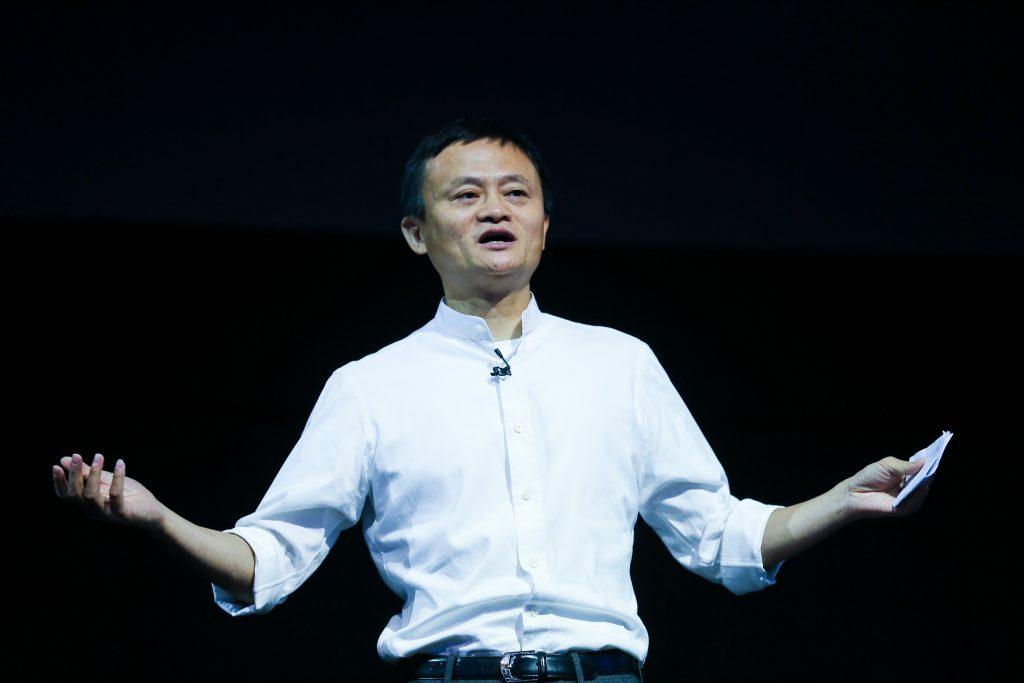 Ma Yun, dit Jack Ma, Pdg du géant chinois du numérique Alibaba lors de l'édition 2016 de la Computing Conference au Yunqi Cloud Town à Hangzhou (province chinoise du Zhejiang), le 13 octobre 2016.