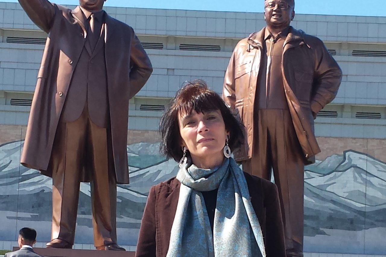 La coréanologue Juliette Morillot à Pyongyang. (Crédit : DR)