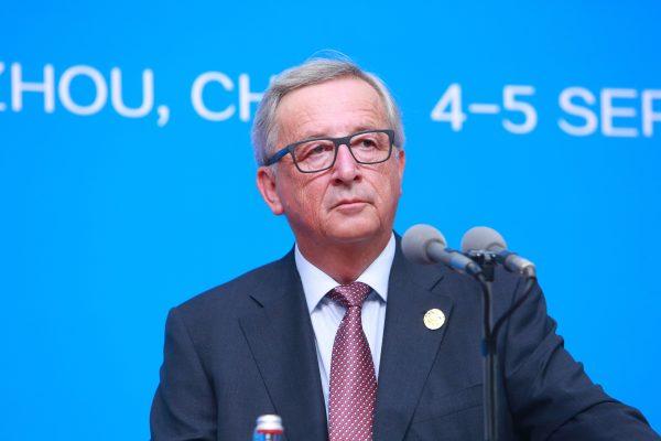 Le président de la commission européenne Jean-Claude Juncker lors du G20 à Hangzhou (province chinoise du Zhejiang), le 4 septembre 2016. (Crédits : Stringer / Imaginechina / via AFP)