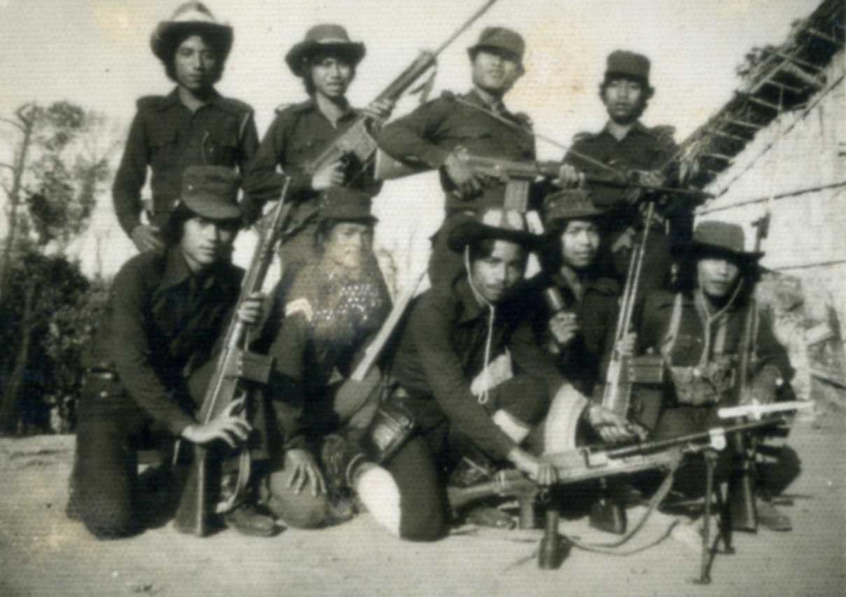 Dans l'Etat du Mizoram au nord-est de l'Inde, les rebelles de la Mizo National Army en 1966-68.
