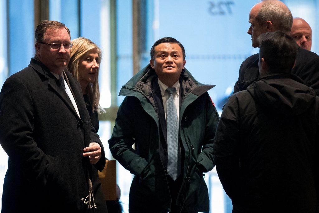 Jack Ma, Pdg du géant chinois de l'e-commerce Alibaba, à son arrivée à la Trump Tower le 9 janvier 2017 à New York. (Crédits : Drew Angerer/Getty Images/AFP)
