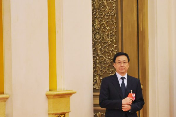 """Han Zheng, le dernier membre de la """"bande de Shanghai"""", ancien allié de Jiang Zemin et actuel secrétaire du Parti pour la municipalité le 6 mars 2016."""