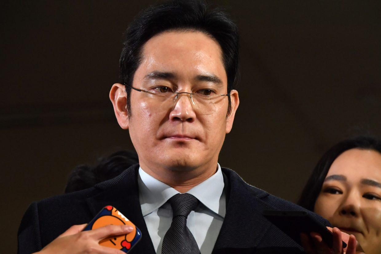 Lee Jae-yong est le premier leader de Samsung à être placé en détention. (Crédit : JUNG Yeon-Je / POOL / AFP)