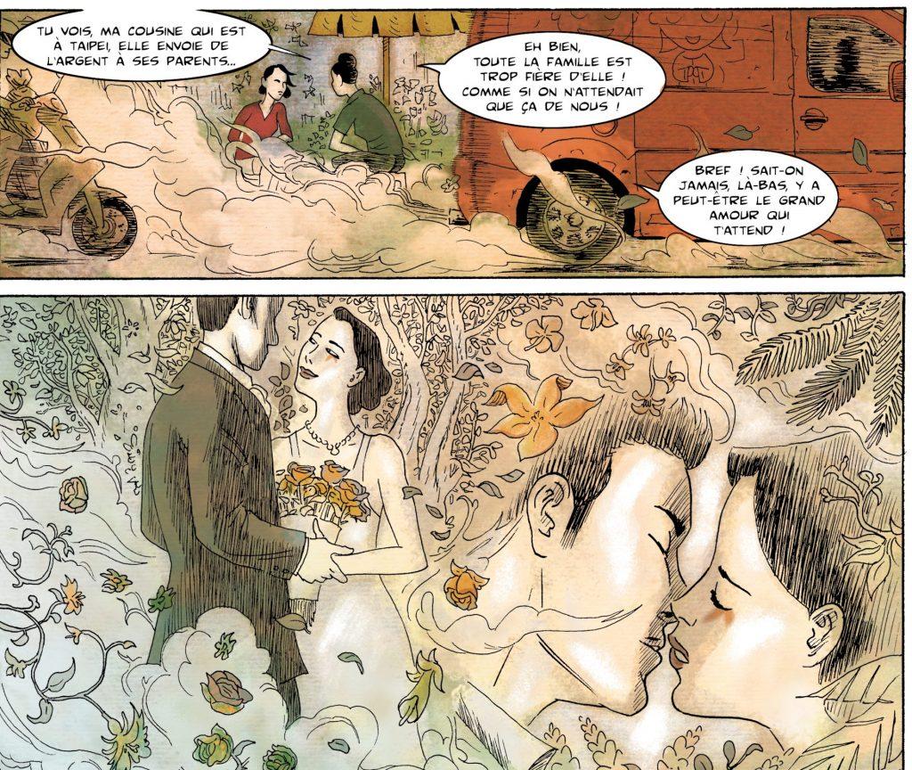 """Extrait de la bande dessinée """"Les mariées de Taïwan"""", scénario et dessin de Clément Baloup, La Boîte à Bulles. (Copyright : La Boîte à Bulles)"""