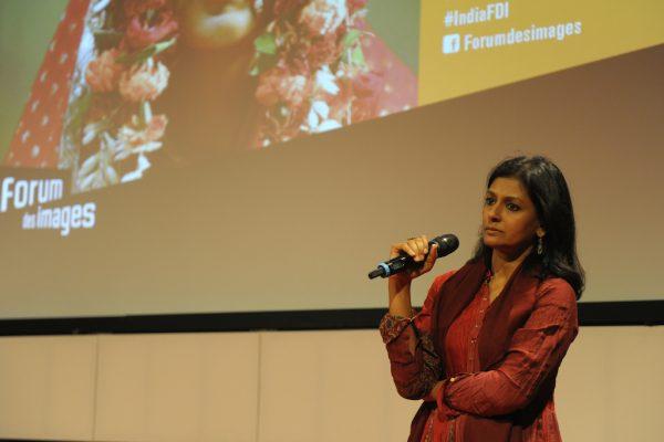 L'actrice et réalisatrice indienne Nandita Das lors du Festival India Express au Forum des Images à Paris en février 2017. (Copyright : Nathalie Prébende)