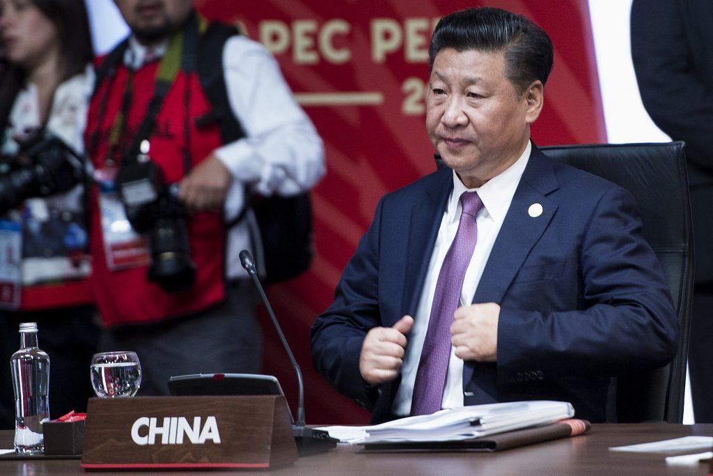 Le président chinois Xi Jinping lors d'une réunion avec des décideurs économiques durant la Conférence de l'Apec à Lima, le 20 novembre 2016. (Crédits : AFP PHOTO / Brendan Smialowski)