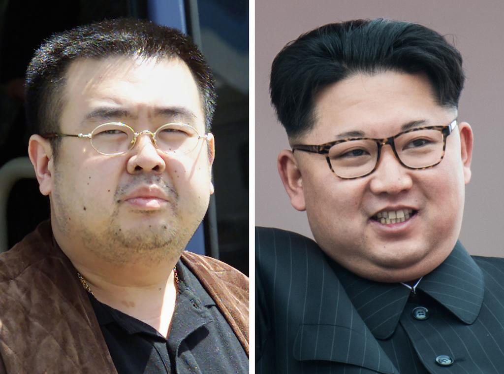 Kim Jong-nam (à gauche) et son demi-frère cadet, le dirigeant nord-coréen Kim Jong-un (à droite). (Crédits : AFP PHOTO / Toshifumi KITAMURA and Ed JONES)