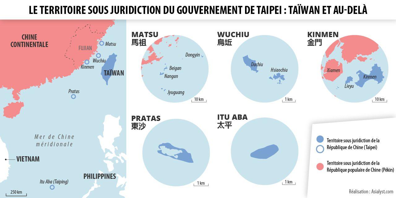 Carte du territoire sous souveraineté du gouvernement de Taipei
