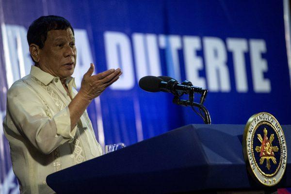 Le président philippin Rodrigo Duterte pendant un discours le 31 mars 2017.
