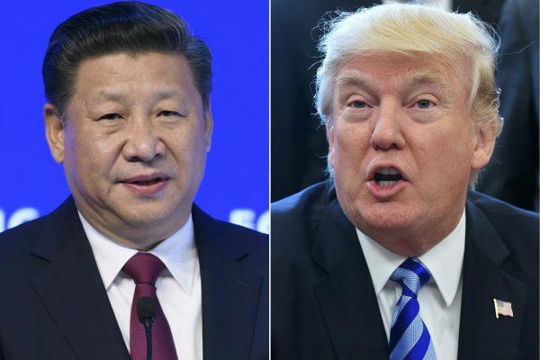 Le président chinois Xi Jinping (à gauche) et son homologue américain, Donald Trump (à droite) à quelque jours du sommet sino-américain.