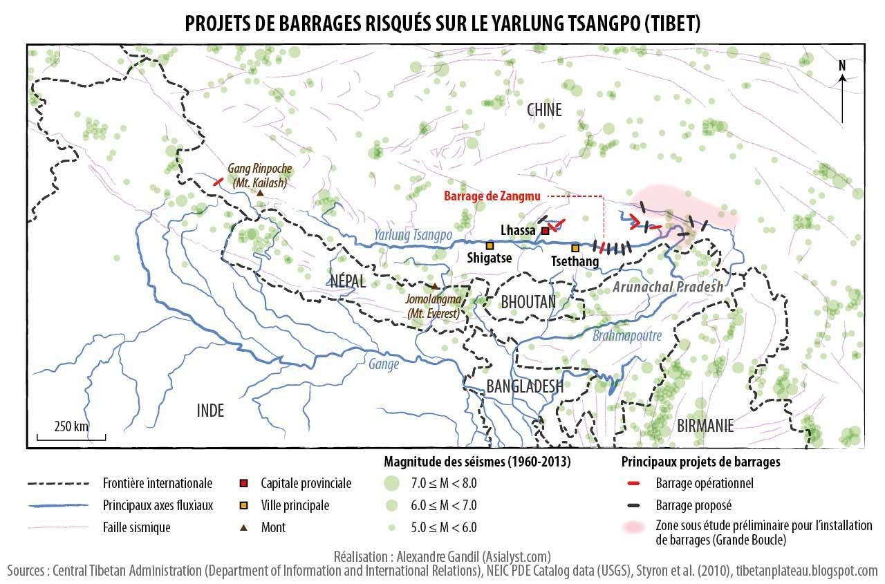Le Tibet sous le poids des barrages chinois - Asialyst